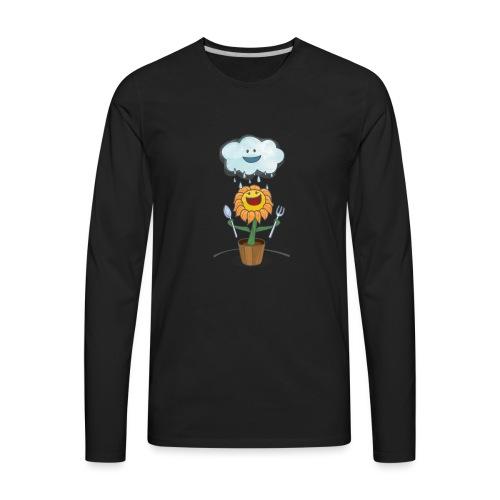 Cloud & Flower - Best friends forever - Men's Premium Long Sleeve T-Shirt