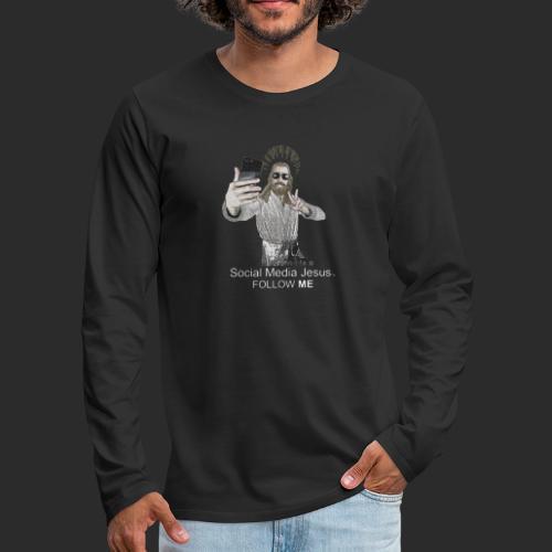 Social Media Jesus - Men's Premium Long Sleeve T-Shirt