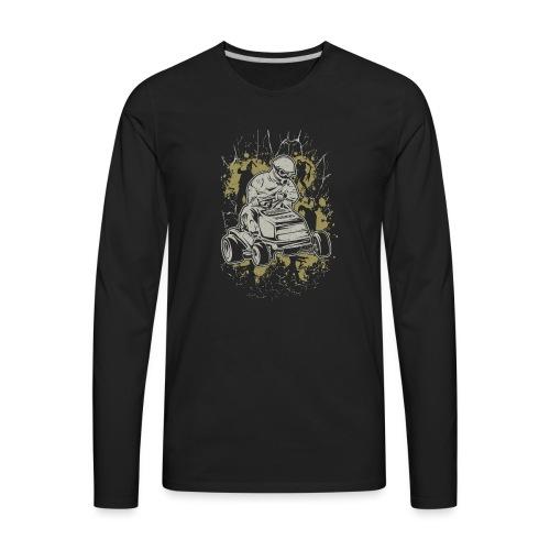 Lawnmower Zombie Web - Men's Premium Long Sleeve T-Shirt