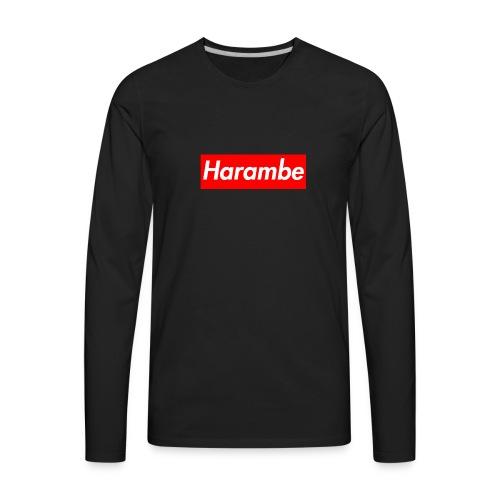 Harambe x Supreme Box Logo - Men's Premium Long Sleeve T-Shirt