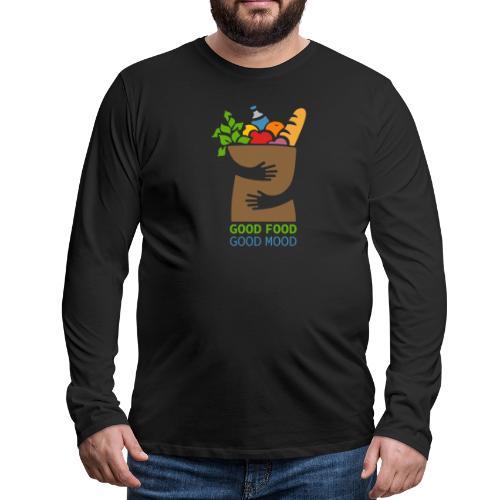 Good Food Good Mood | Minimal Colorful Food Design - Men's Premium Long Sleeve T-Shirt