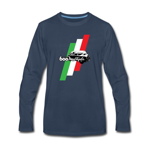 Fiat 600 Multipla script and illustration - - Men's Premium Long Sleeve T-Shirt