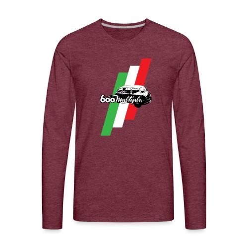 Fiat 600 Multipla script and illustration - - Men's Premium Long Sleeve T-Shirt