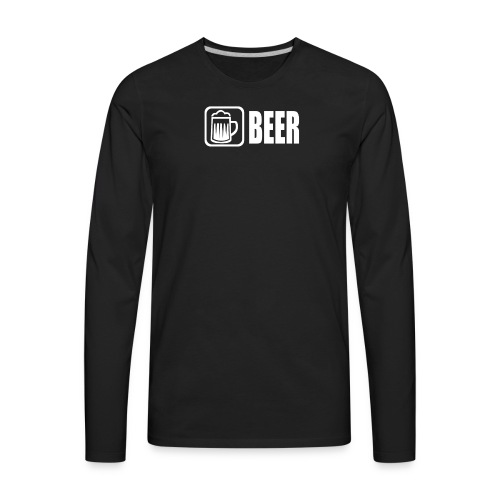 beer funny tshirt - Men's Premium Long Sleeve T-Shirt