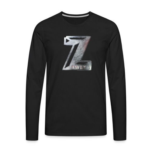 Zawles - metal logo - Men's Premium Long Sleeve T-Shirt