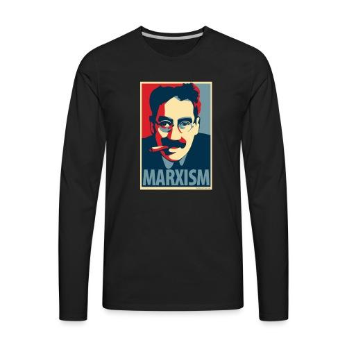 Marxism: Obama Poster Parody - Men's Premium Long Sleeve T-Shirt
