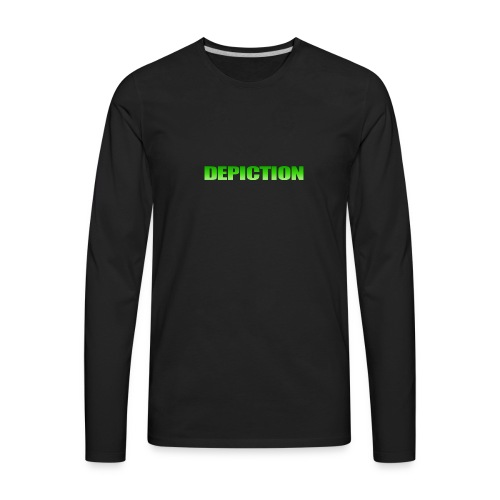 Depiction Impact [GREEN] - Men's Premium Long Sleeve T-Shirt