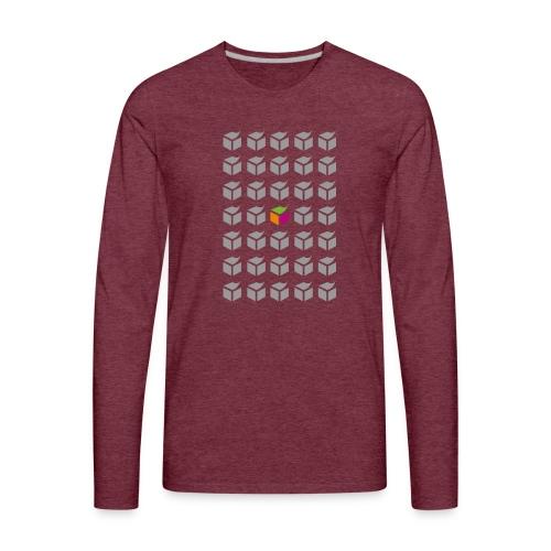 grid semantic web - Men's Premium Long Sleeve T-Shirt