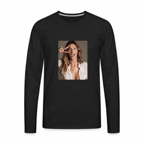 Kate Moss portrait - Men's Premium Long Sleeve T-Shirt