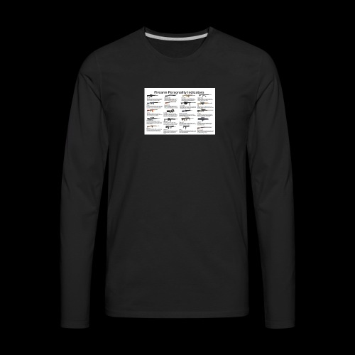 Pick one gun then read the personality discription - Men's Premium Long Sleeve T-Shirt