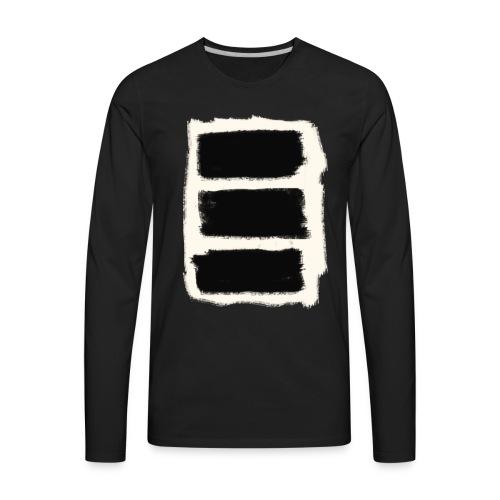 Three Black Stripes T-Shirt - Men's Premium Long Sleeve T-Shirt