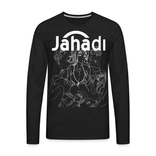 HADIBITCHESWHITE - Men's Premium Long Sleeve T-Shirt