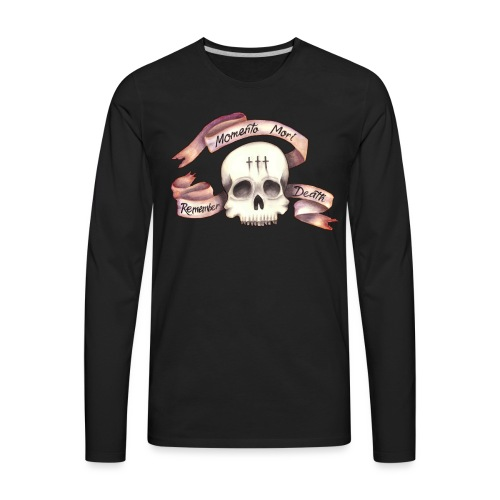 Momento Mori - Remember Death - Men's Premium Long Sleeve T-Shirt