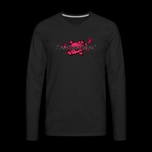 Pink skull DHS og logo - Men's Premium Long Sleeve T-Shirt