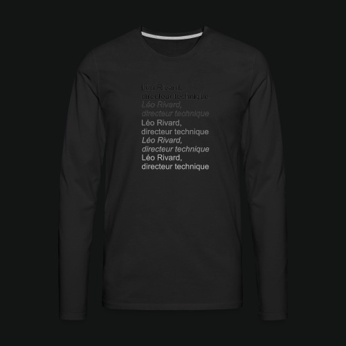 LEO TECHNICAL Rivard - Men's Premium Long Sleeve T-Shirt