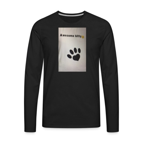 Stay Awesome kitties - Men's Premium Long Sleeve T-Shirt