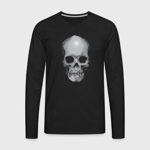 Finally Skull - Men's Premium Long Sleeve T-Shirt