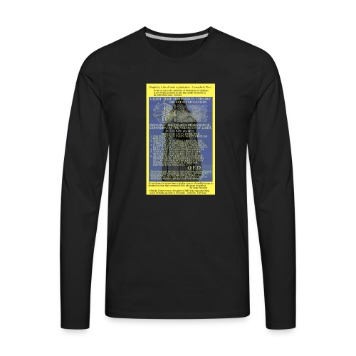 Light Time Dimension Theory: Dr. Elliot McGucken - Men's Premium Long Sleeve T-Shirt