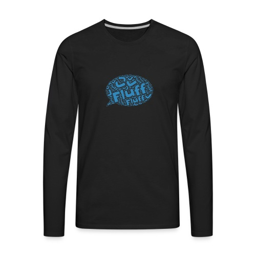 Fluff J Logo - Men's Premium Long Sleeve T-Shirt
