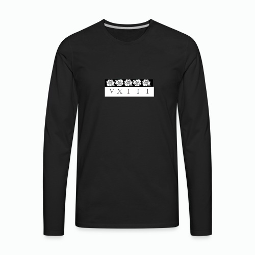 rose VXIII box logo - Men's Premium Long Sleeve T-Shirt
