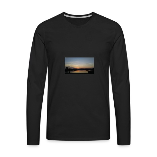 Sunset on the Water - Men's Premium Long Sleeve T-Shirt