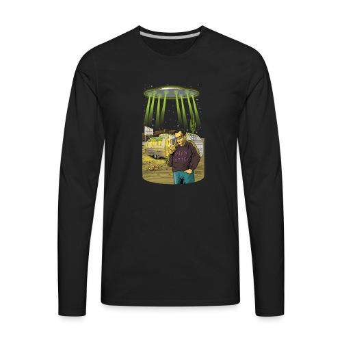 Art Bell Coast to Coast UFO Sighting - Men's Premium Long Sleeve T-Shirt