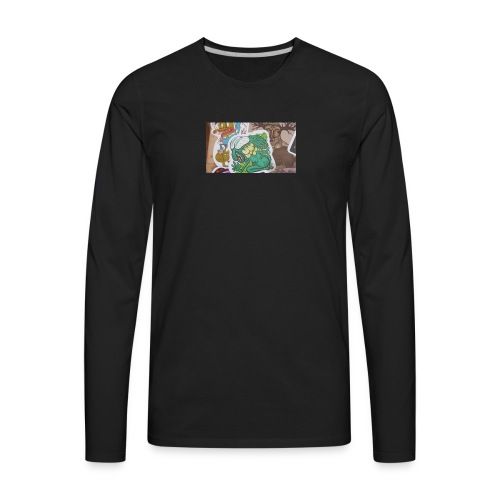 Sticker tag swetters and t shirts and hoodies - Men's Premium Long Sleeve T-Shirt