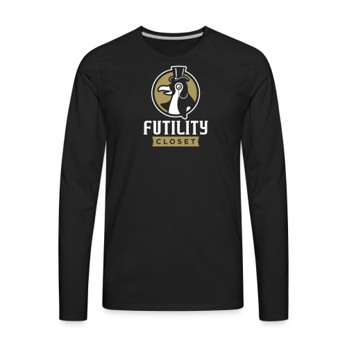 Futility Closet Logo - Reversed - Men's Premium Long Sleeve T-Shirt