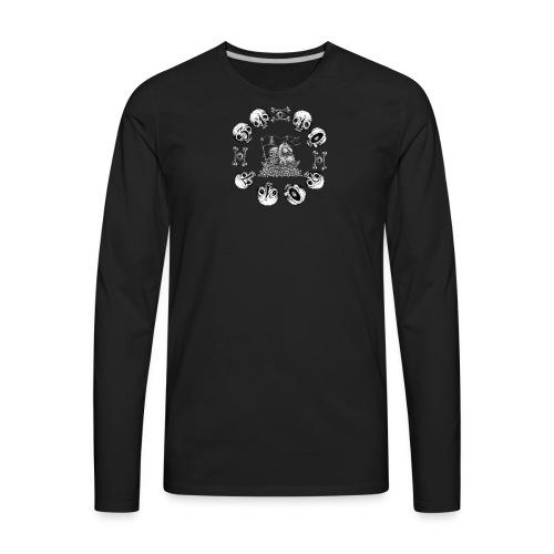 skull halloween - Men's Premium Long Sleeve T-Shirt