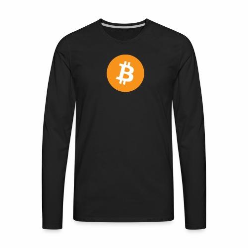 Bitcoin Logo - Men's Premium Long Sleeve T-Shirt