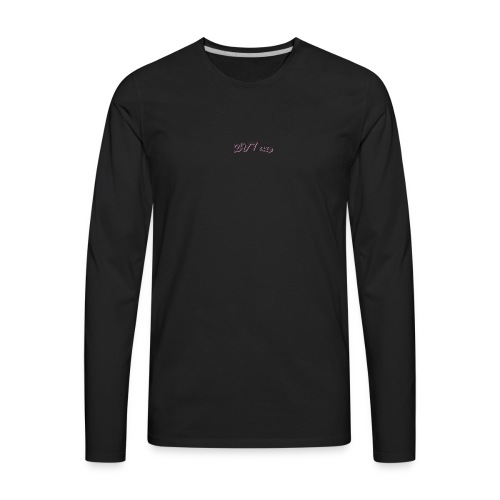 youtube label - Men's Premium Long Sleeve T-Shirt