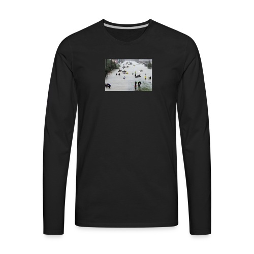 texas hurricane harvey 022 - Men's Premium Long Sleeve T-Shirt