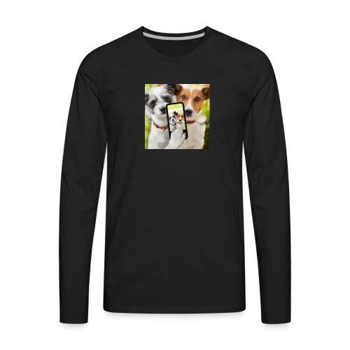 Dogs & Phone - Men's Premium Long Sleeve T-Shirt