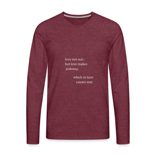 love not war (invert) - Men's Premium Long Sleeve T-Shirt