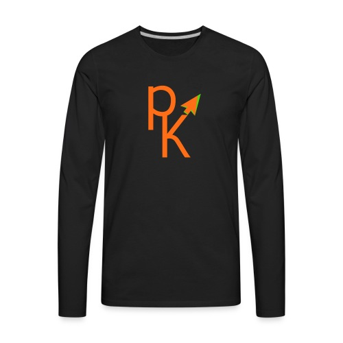 Plusklix Logo - Men's Premium Long Sleeve T-Shirt