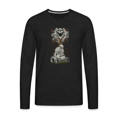 Lawnmower Skull Tree - Men's Premium Long Sleeve T-Shirt