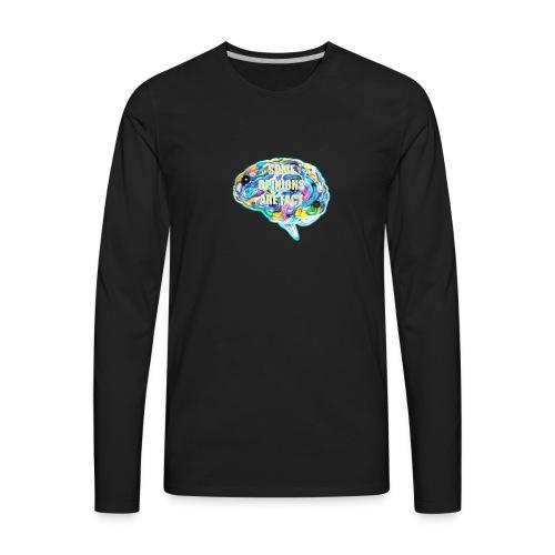 brain fact - Men's Premium Long Sleeve T-Shirt