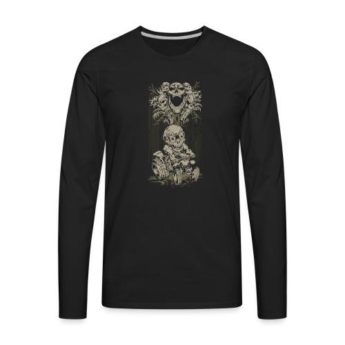 ATV Skully Skull Tree - Men's Premium Long Sleeve T-Shirt