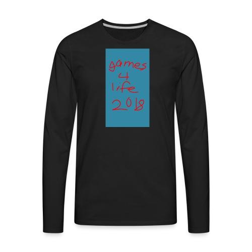 First games4life2018 - Men's Premium Long Sleeve T-Shirt