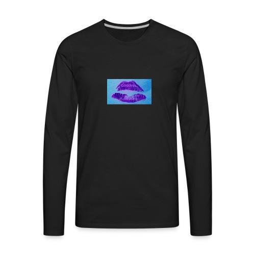 Goddess Moon Pulishing Puple Lipstick Logo - Men's Premium Long Sleeve T-Shirt