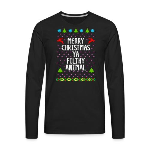Merry x mas ya filthy animals Full Color - Men's Premium Long Sleeve T-Shirt