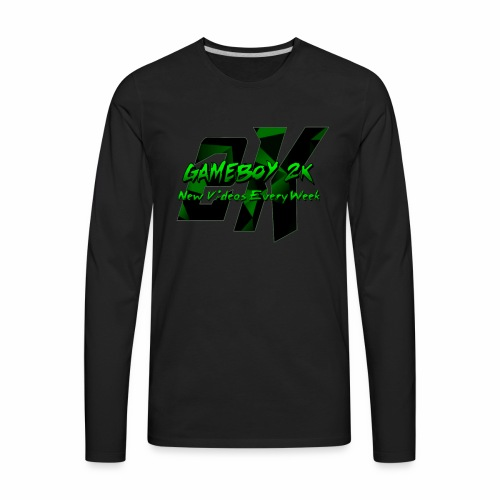 GameBoy 2K Logo - Men's Premium Long Sleeve T-Shirt