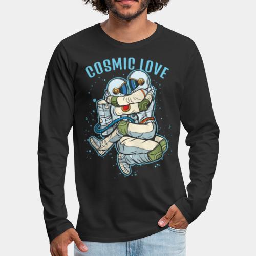cosmic love astronaut space - Men's Premium Long Sleeve T-Shirt