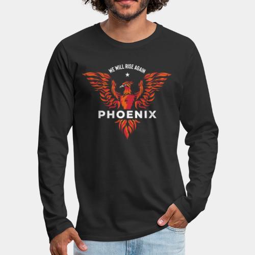 phoenix bird born reborn - Men's Premium Long Sleeve T-Shirt