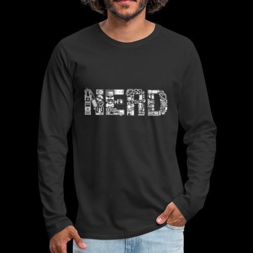 Nerd is the Word - Men's Premium Long Sleeve T-Shirt