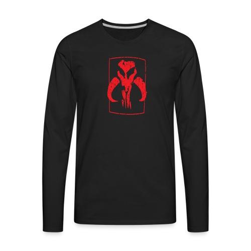 RED Mando skull - Men's Premium Long Sleeve T-Shirt