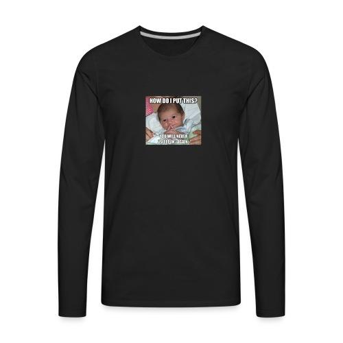 funny baby - Men's Premium Long Sleeve T-Shirt