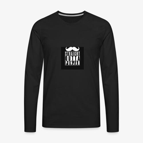 straight outta punjab - Men's Premium Long Sleeve T-Shirt