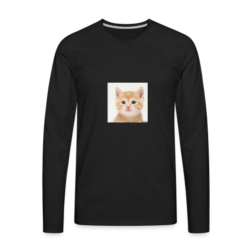 the great cute cat shirt - Men's Premium Long Sleeve T-Shirt
