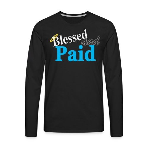 Baby Blue Angel - Men's Premium Long Sleeve T-Shirt